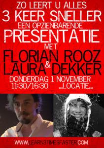 Zo leert u alles 3 keer sneller - Florian Rooz & Laura Dekker @ Nieuwe Delamar theater Amsterdam | Amsterdam | Noord-Holland | Netherlands